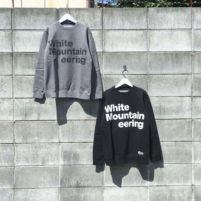 White Mountaineering/LOGO PRINTED SWEATSHIRT White Mountaineering