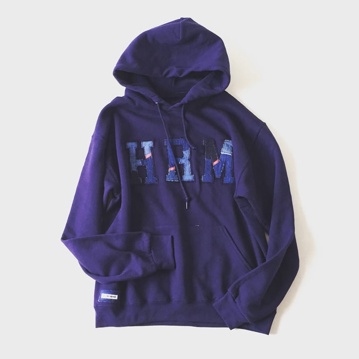 HOLLYWOOD RANCH MARKET/H.R.REMAKE PATCHWORK HRM HOODIE