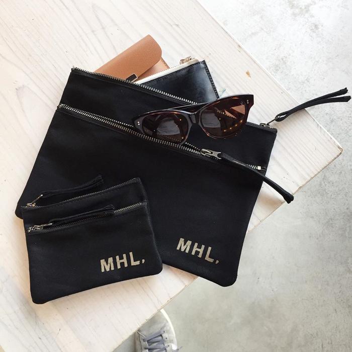 MHL./BASIC COTTON CANVAS POUCH