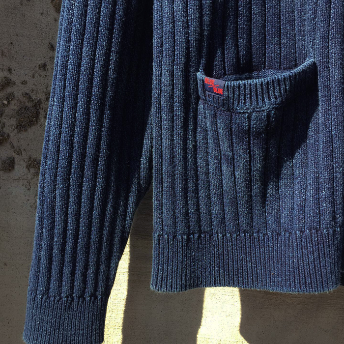 BLUE BLUE/INDIGO COTTON COMMAND SWEATER