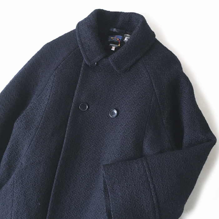 BLUE BLUE JAPAN/YUKI FUBUKI WOOL DOUBLE-BREASTED HALF COAT WOMENS