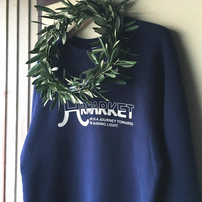 HRMARKET 2-TONE FLOCKY PRINT CN SWEAT