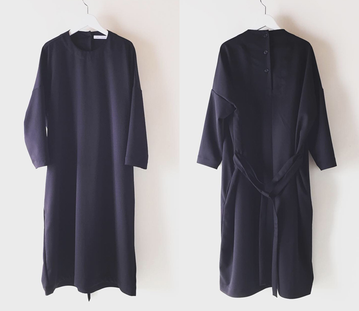 holk/NO COLLER DRESS