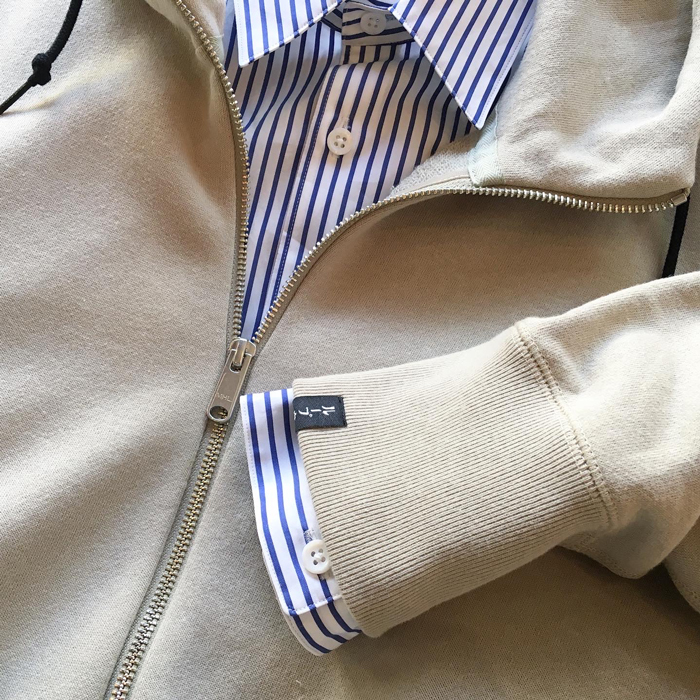MHL./20SS LIGHT LOOPBACK COTTON HOODIE