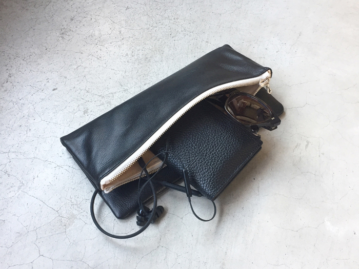 DIGAWEL/LEATHER POUCH LARGE