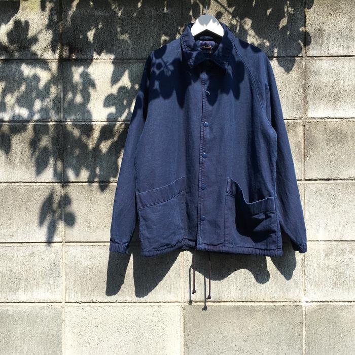 BLUE BLUE JAPAN/COTTON LINEN BACK CHINO TEZOME COACH JACKET