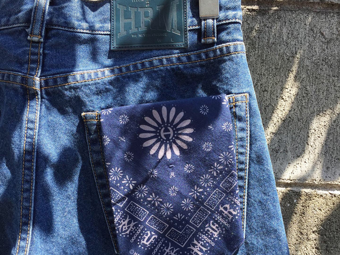 HOLLYWOOD RANCH MARKET/TAPERED RELAX WASHED JEANS