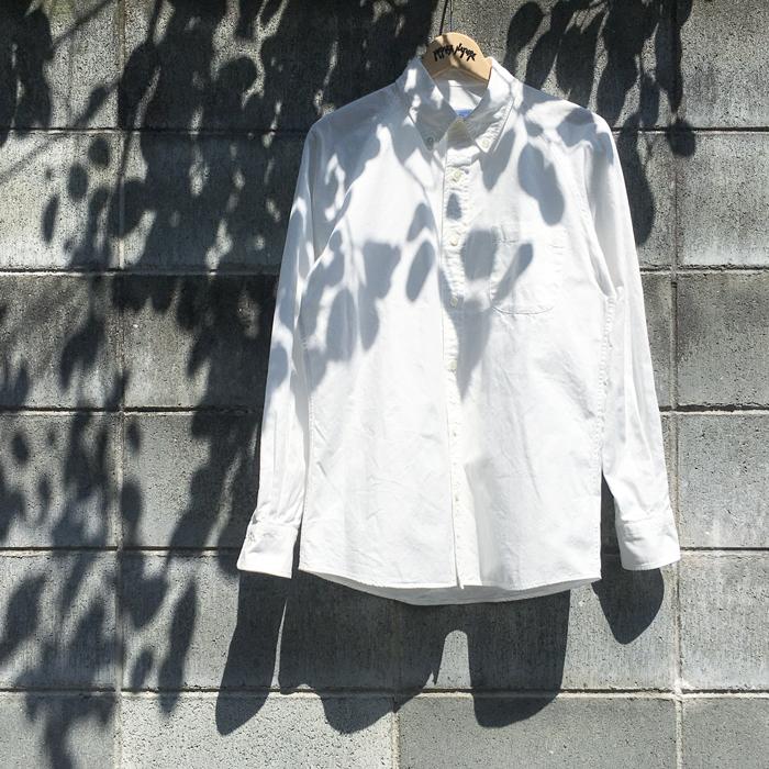 BLUE BLUE JAPAN/OXFORD RAGLAN SLEEVE BUTTON-DOWN SHIRT