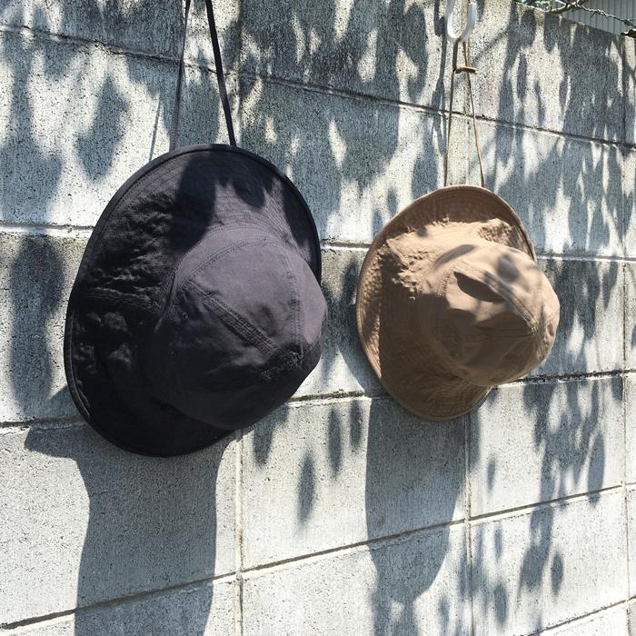 COTTON NYLON OXFORD CAP HAT
