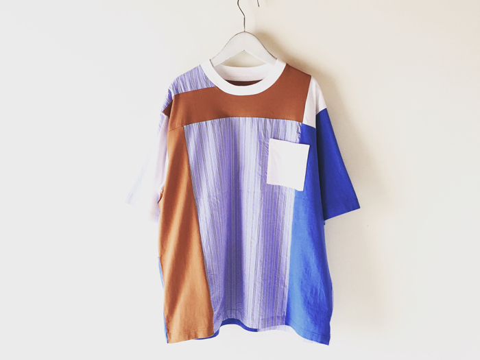 White Mountaineering/STRIPE CONTRASTED T-SHIRT