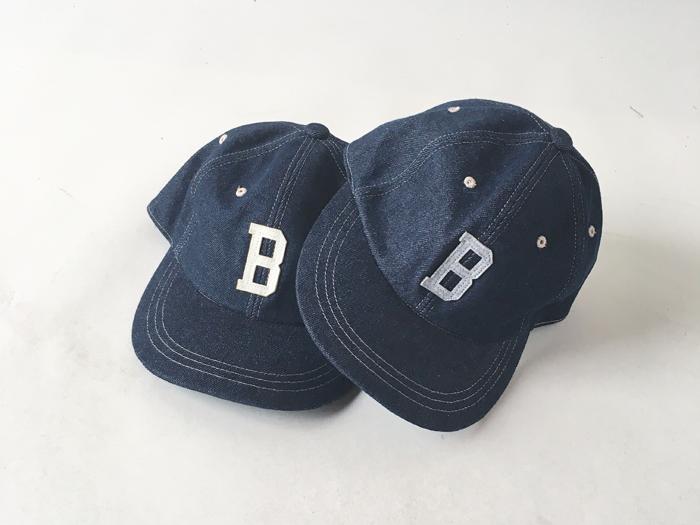H.R.REMAKE/PATCH INDIGO DENIM BASEBALL CAP