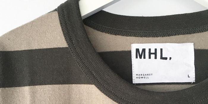 MHL./COTTON HEMP WIDE STRIPE T-SHIRT