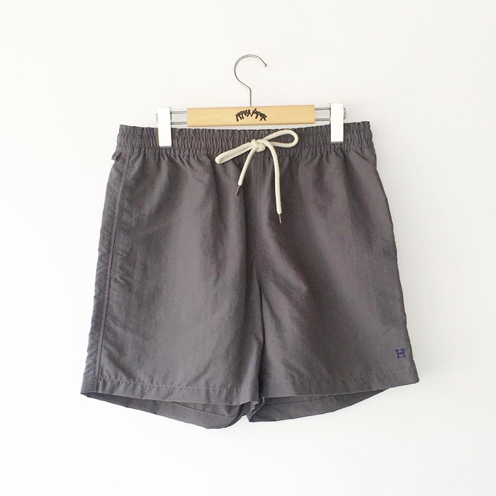 HOLLYWOOD RANCH MARKET/H EMB LEGS-FREE NYLON SHORTS