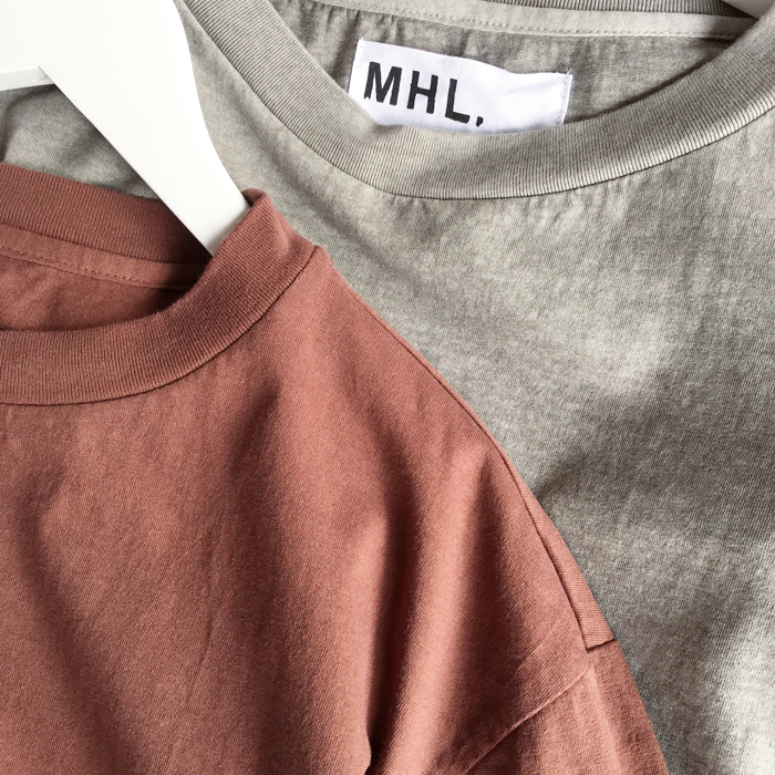 MHL./NATURAL DYE LIGHT JERSEY SS T-SHIRTS