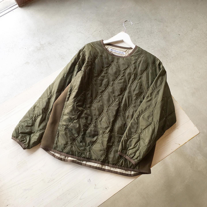 White Mountaineering/QULTED PULLOVER