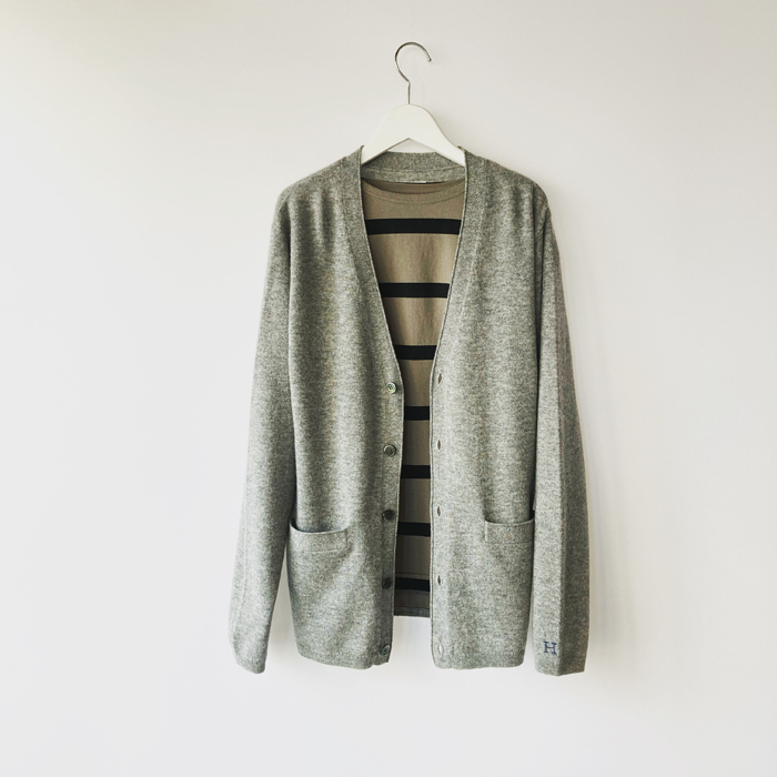 HOLLYWOOD RANCH MARKET/MERINO CASHMERE WASHABLE CARDIGAN