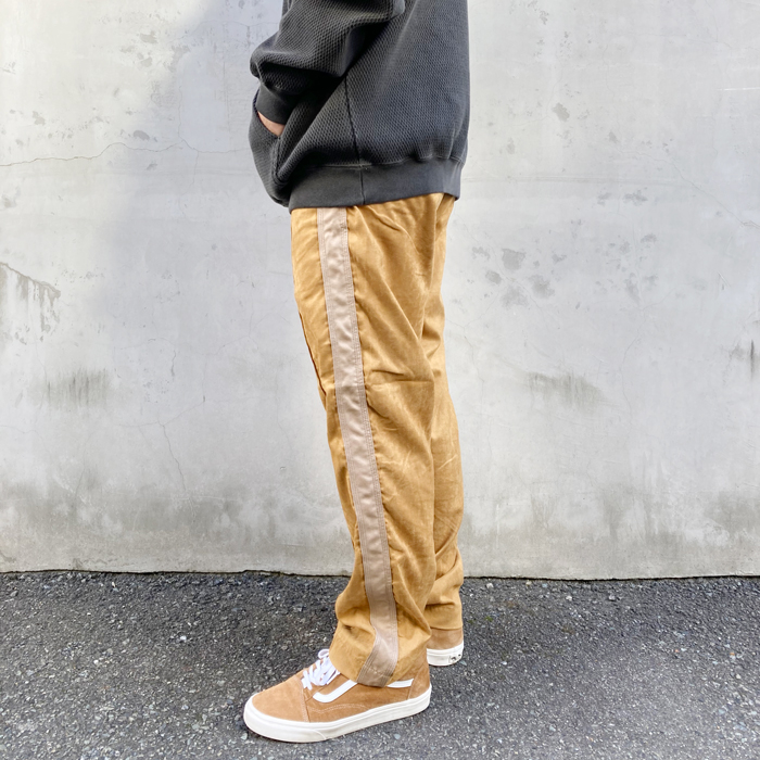 HOLLYWOOD RANCH MARKET/ECO SUEDE STITCH LINE TRACK PANTS