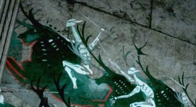 エルフの壁画
