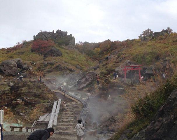 須川温泉。