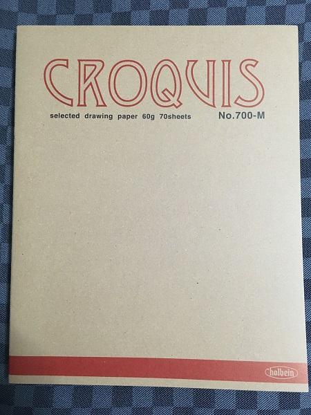 クロッキー帳。