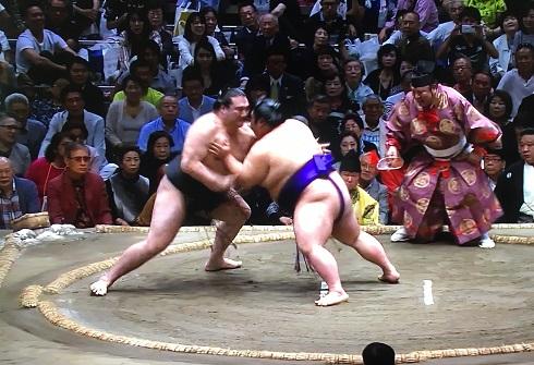 竜電 vs 貴景勝