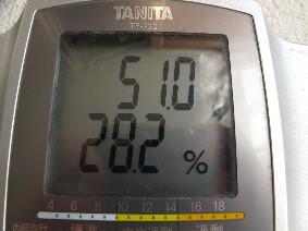体重51.0kg