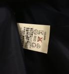 ダッフルコートの洗濯タグ