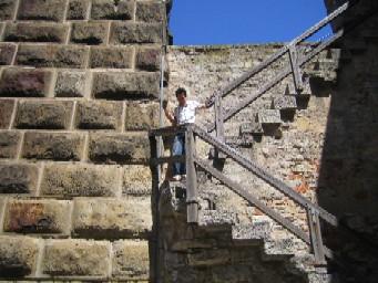城壁階段。
