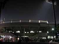 信濃戦x上田球場外観・なかなかいい球場だった