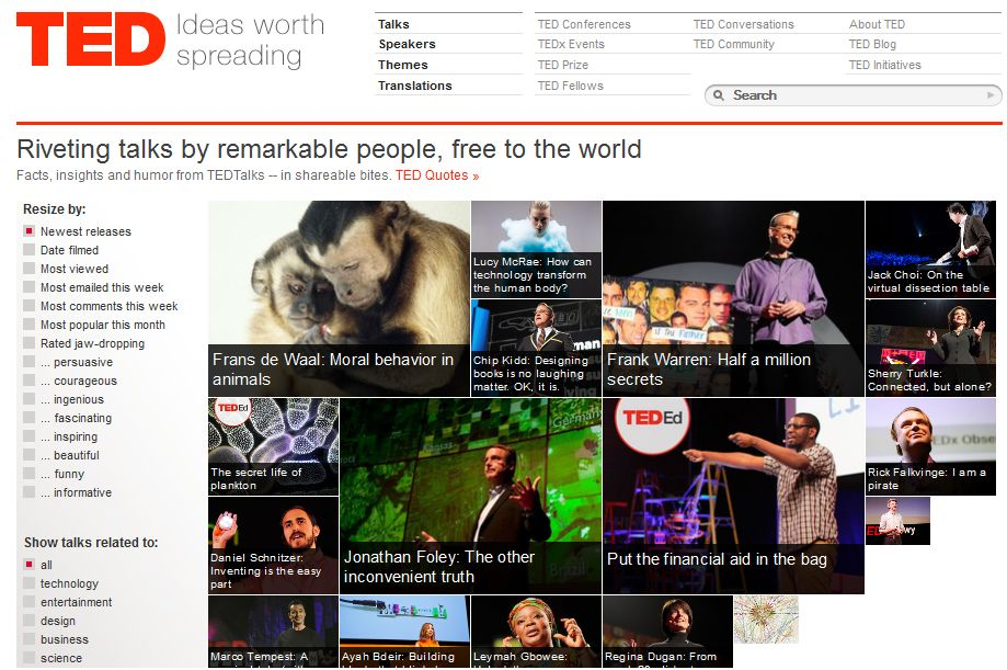 TED公式サイト