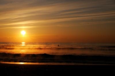 九十九里浜の朝日
