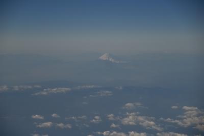 帰りの飛行機から富士山