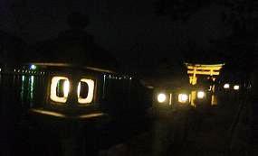 夜の御笠浜