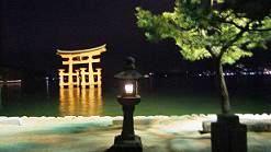 御笠浜の夜