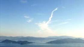 昇り龍みたいな雲