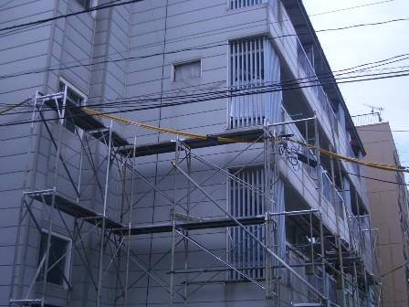 足場設置工事 1
