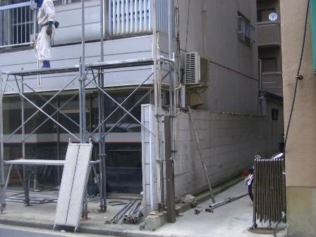足場設置工事 4