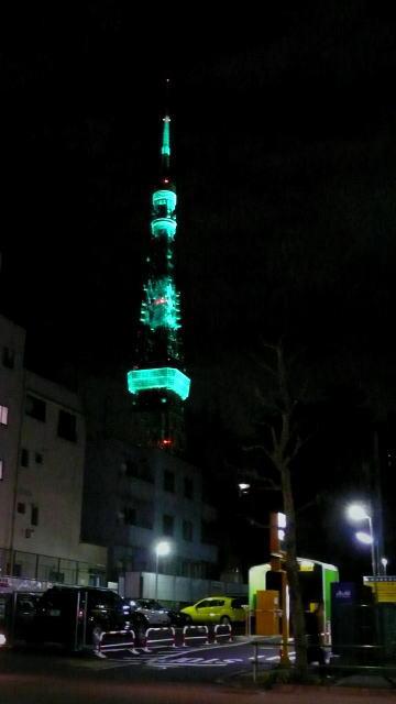 Vol.262  東京タワー 緑色のライトアップ 〜 愛宕ヒルズより