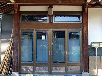玄関柱1施工前