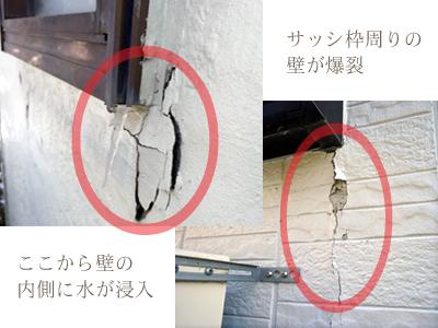 壁亀裂|塗装ぼろぼろ