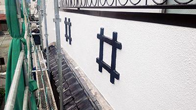 建物の井の字の飾り