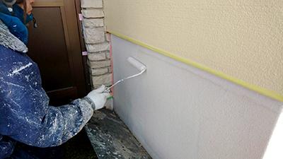 基礎の塗装作業