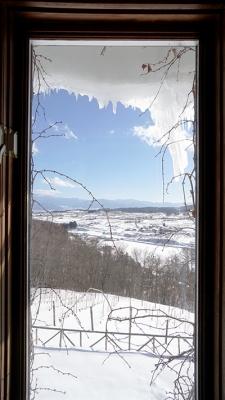 サンクゼール 窓からの雪景色