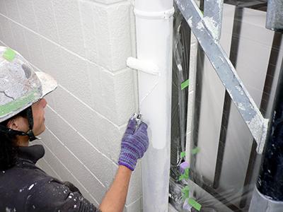 竪樋の塗装2
