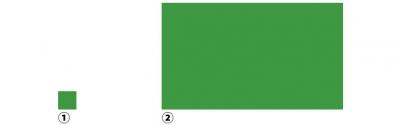 色の面積と明るさ見え方比較