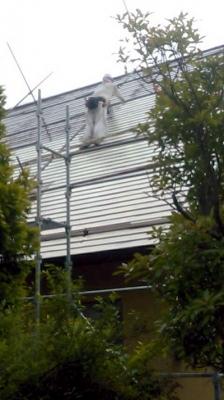 屋根塗装中塗り(エコサーモAP)