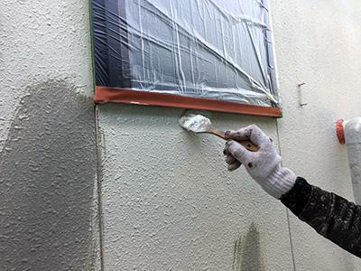 外壁塗下塗り1(バルーンウォール)