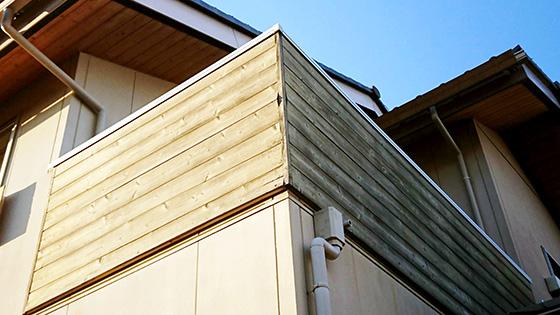ベランダ木製外壁施工前