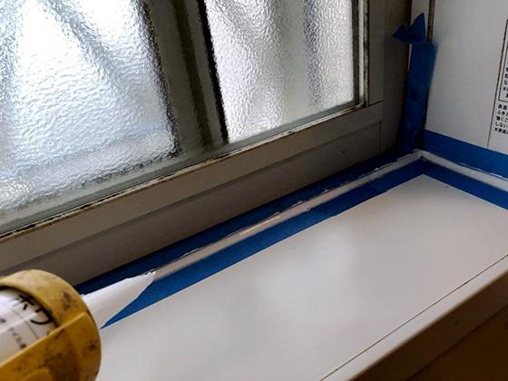 浴室内コーキング補修