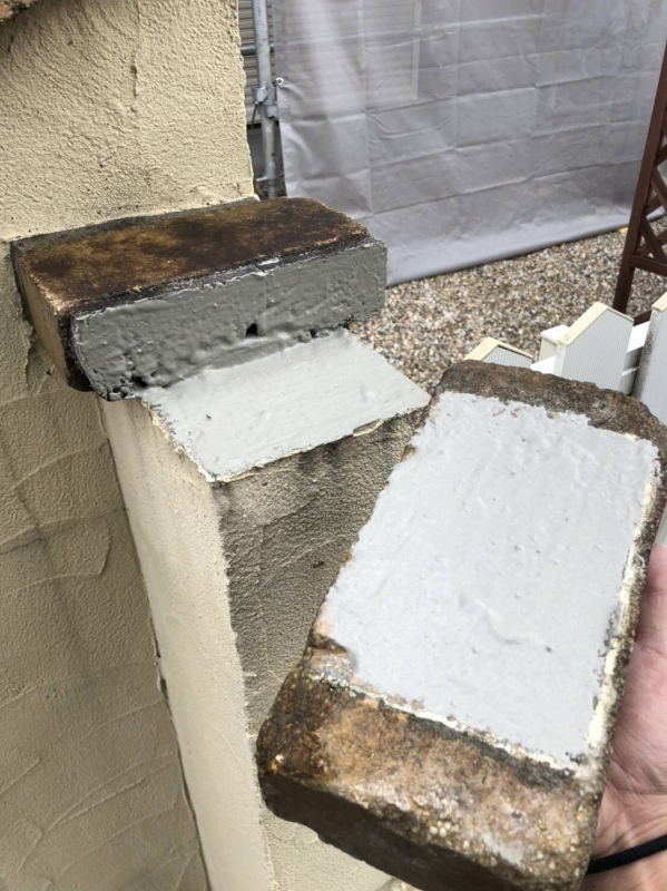 ブロック塀レンガ補修